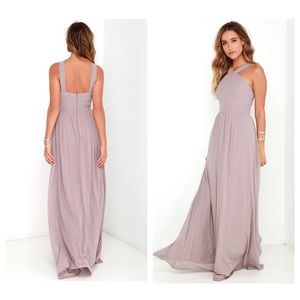 Lulu's Air of Romance Lilac Maxi Dress Size Large
